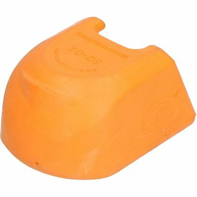 Trailer Pressed Steel Hitch Coupling Soft Cover Protector High Visibility Orange