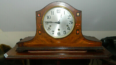 Antique Inlaid Haller Napoleon Hat Clock with Westminster/Silent Chimes