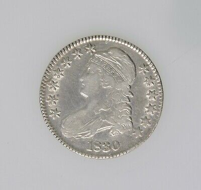 1830 Large 0 Bust Half Dollar VF Great Eye Appeal Beautiful Coin