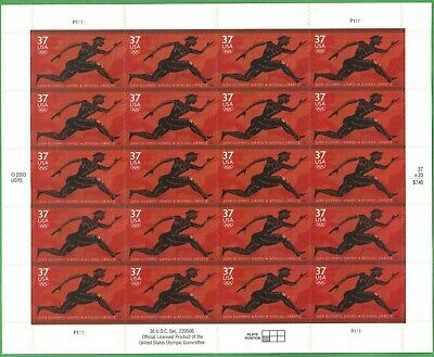 Athens Olympic Games sheet of twenty 37 cent stamps from 2003, MNH, Scott #3863