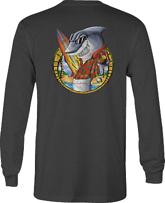 Long Sleeve Tshirt Surfing Shark Hawaiian for Women