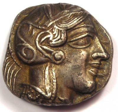 Ancient Athens Greece Athena Owl Tetradrachm Coin (440-404 BC) - Nice XF!