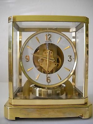 Vintage Jaeger Atmos Le Coultre Caliber 528-6 Swiss Mantle Clock Serial # 179002