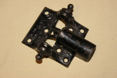 Vintage cast spring loaded hinge ornate