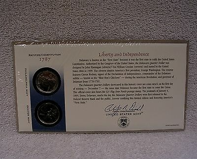 1999 Delaware First Day Cover - Sealed Cello -  Q10 - P & D Mint  State Quarter