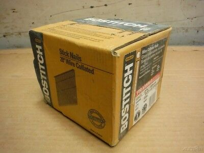 "BOX OF 2000x BOSTITCH S8D 2-3/8"" 28 DEGREE WIRE COLLATED STICK FRAMING NAILS!"