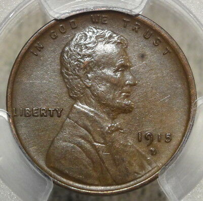 1915-D Lincoln Cent, Choice Almost Uncirculated PCGS AU-58, Well Struck
