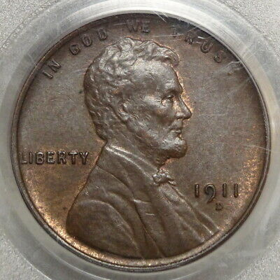 1911-D Lincoln Cent, Choice Uncirculated PCGS MS-64BN, Well Struck with Color