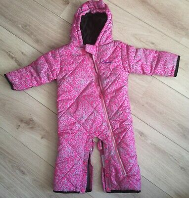 6d046a40f DARE2B BABIES BUGALOO SKYDIVER pink SNOWSUIT RRP £35 Ages 0-6 months