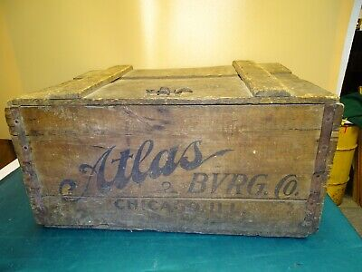 Antique Atlas Beverage Co. Chicago Ill. Pre-Prohibition Wooden Beer Crate Nice !
