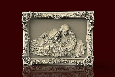 3d STL Model for CNC K010 (Jesus) Router Engraver Machine Relief Artcam
