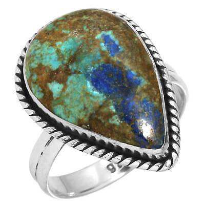 Azurite Ring 925 Sterling Silver Women Jewelry Size 9 Gk77670