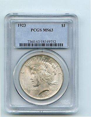 1923 Silver Peace Dollar (MS63) PCGS