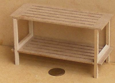 1:12 Scale Wide Flat Pack MDF Wooden Market Stall Kit Tumdee Dolls House Shop