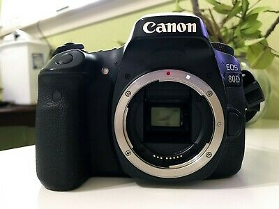 Canon EOS 80D 24.2MP Digital SLR Camera - Black (Body Only) | MINT