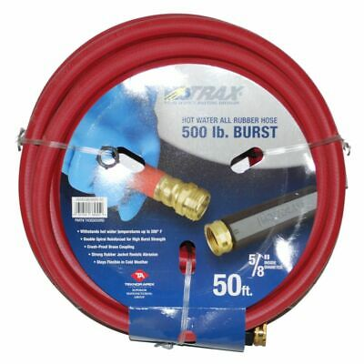 """Notrax 724-311 50' x 5/8"""" Red Rubber Hot Water Hose"""