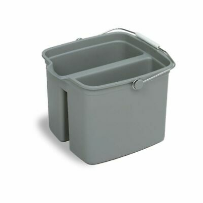 Continental 8216 Huskee Gray 16 qt Divided Pail