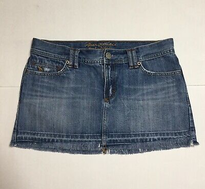fc9e9c342f Abercrombie & Fitch Womens Size 8 Denim Jean Micro Mini Skirt Frayed  Distressed