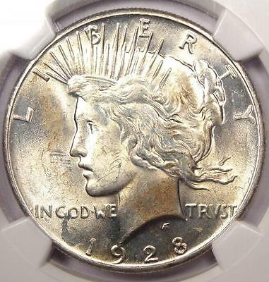 1928 Peace Silver Dollar $1 - NGC Uncirculated - Rare 1928-P BU MS UNC Coin