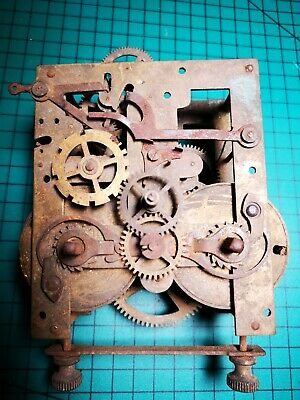 43cm Two Chane 2 Key Bress Chimming Mantel Mantelpiece Clock Movement Spairs Or