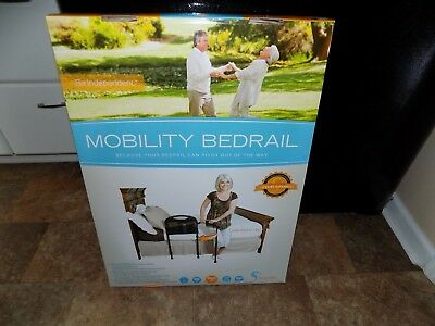 "Stander 5850 Mobility Bedrail Swing Out Arm Adjustable Legs 8-18"" Mattress Adult"