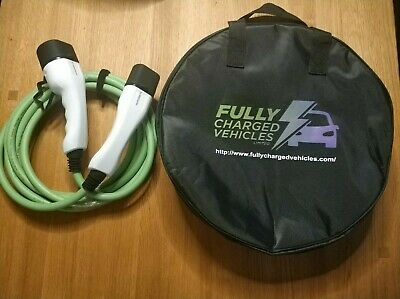 EV charger cable Type 2 to Type2. 5M 32A charging up to 7.5 kwh. FAST CHARGING.