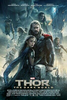 Thor The Dark World Large Movie Poster Canvas 20X30 Glossy Photo Paper 24X36