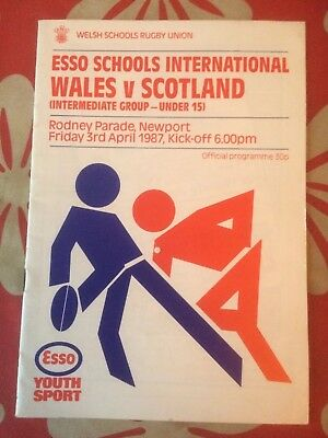 Wales V Scotland Rugby Union Programme