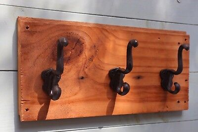Vintage Style Rustic Cast Iron Coat Wall Hook Rack, The Country Hookers, CH-3