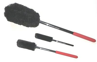Wheel Woolies ® Detailing brush A kit Large Med & Small Blk Wool & Red grip