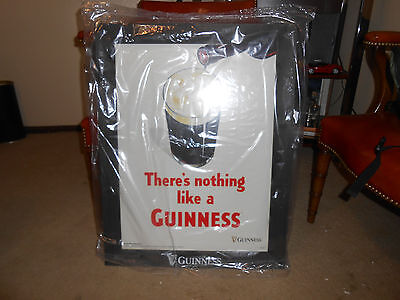 """Guinness Wood Frame Poster """"There's Nothing like a Guinness"""""""