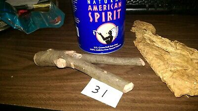 Oak Branch wood pipe #31 No 2 alike For tobacco weed, deep pot carb screen.