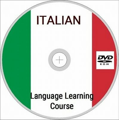 LEARN ITALIAN DVD ROM- 8 Manuals (PDF) & Over 37 hours of quality MP3 !