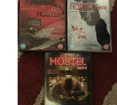 Small Bundle HOSTEL 3 dvds see pics for titles PARTS 1 2 3