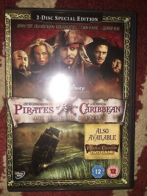 PIRATES OF THE CARIBBEAN dvds see pics 2 DVDS 2 DISC SPECIAL