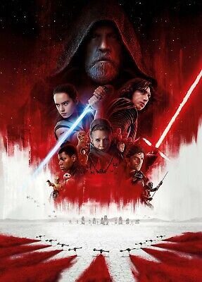 Star Wars The Last Jedi Large Movie Poster Canvas 20X30 Glossy Photo Paper 24X36