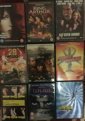 Small Bundle OF 9 dvds see pics for titles , CAPE FEAR , SNAKES ON PLANE & MORE