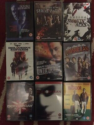 Small Bundle OF 9 dvds see pics for titles DOOMESDAY,STRIKE BACK,MATADOR & MORE