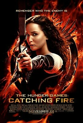 The Hunger Games Catching Fire Poster Canvas 20X30 Glossy Photo Paper 24X36
