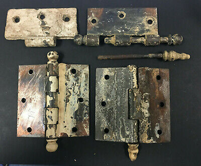 Lot of Vintage Steel Hinges & Ball Ends, Parts