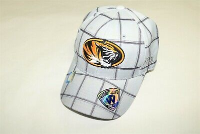 new styles 1fddf e0e3e Missouri Tigers - Top Of The World Gray Plaid One Fit Stretch Fitted Hat