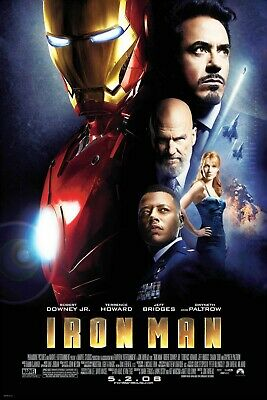 Iron Man 2008 Large Movie Poster Canvas 20X30 Glossy Photo Paper 24X36