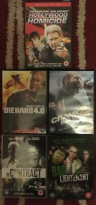 Bundle OF 9 dvds see pics for title DIE HAED 4 HOMICIDE ,CRANK 2 & MORE