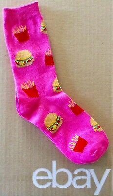 Women's Burger And Fries Crew Socks Size 9-11