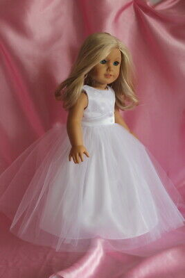 Communion Dress fits 18inch American Girl Doll Clothes Wedding Gown