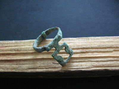 ANCIENT ROMAN BRONZE KEY FINGER RING FROM VILLA RUSTICA 1-2 ct. A.D.