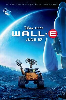 Wall-E Disney Movie Poster Canvas 20X30 Glossy Photo Paper 24X36