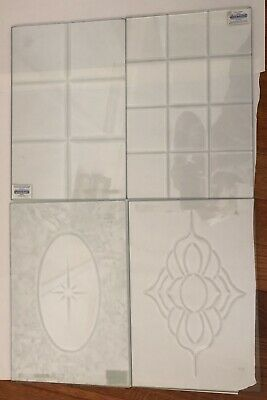 4  Stained Glass Supplies Clear Glass Bevel  Tile 10 x 15 Inch
