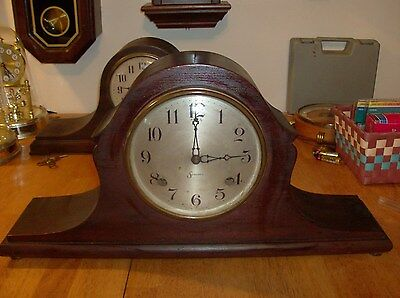 8 day Sessions Mantel clock Hour and Half Hour Strike ( Parts Or Repair)