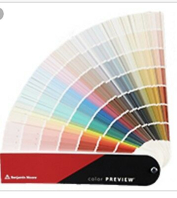 Benjamin Moore Color PREVIEW Paint Fan Color Deck Wheel Sealed New